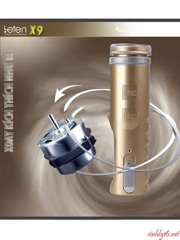 Âm Đạo Giả Tự Động LETEN X9 Màu Gold