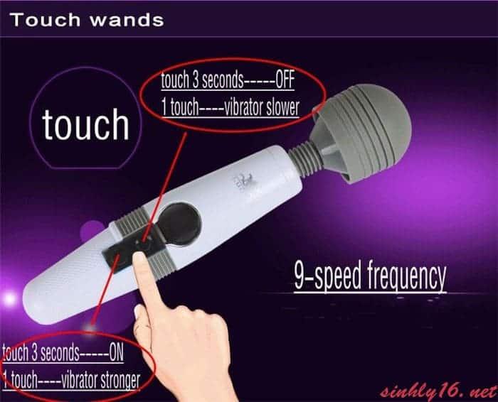 Chày rung Louge siêu khỏe điều chỉnh cảm ứng màn hình