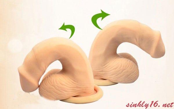 Dương vật giả silicon Loveaider 02 có thể uống cong một cách dễ dàng