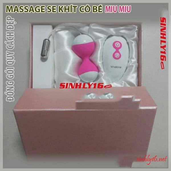 Hồ lô massage Miu Miu đóng gói quy cách đẹp