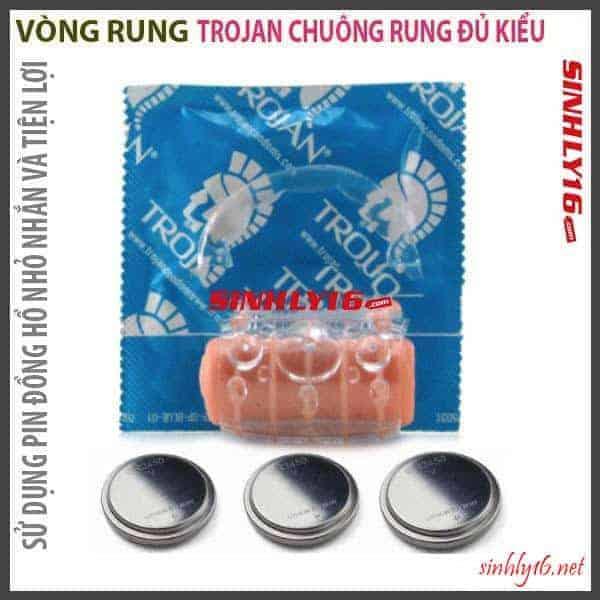 Trojan Multi Speed Vibratin Vòng Rung Ring gia tăng xúc cảm