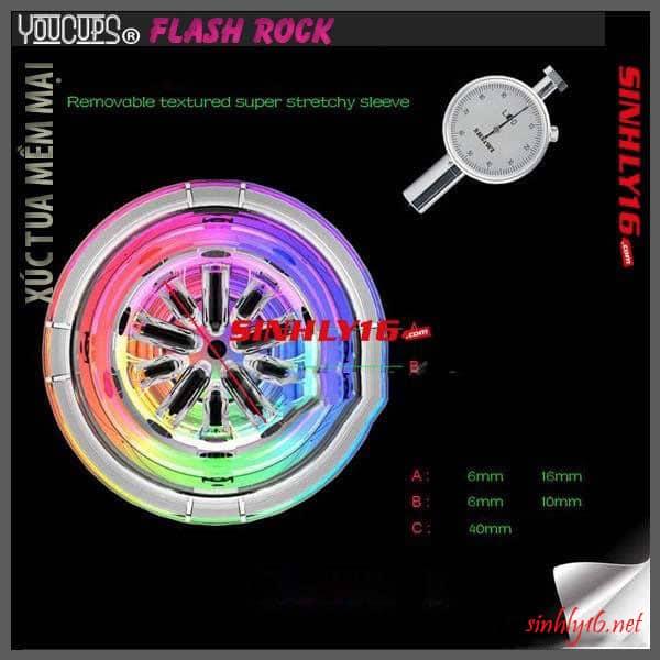 Youcups Flash Rock với các xúc tua mềm mại