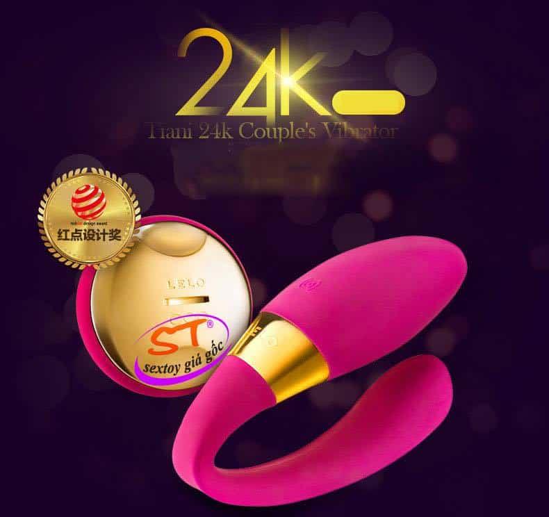 Trứng Rung Lelo Tiani 24K- Siêu Phẩm Phòng The Mạ Vàng 24K - DC85K
